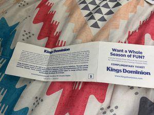 Kings dominion ticket 2019 for Sale in Richmond, VA