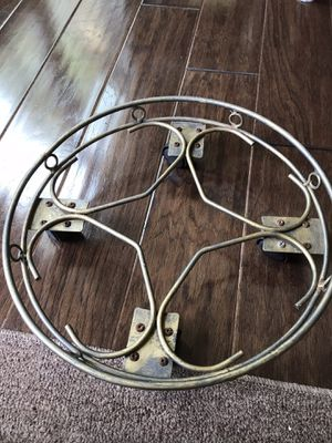 """PLANT TROLLY - Distressed Gold Metal 4 Wheel Plant Trolly 14"""" for Sale in Lexington, KY"""