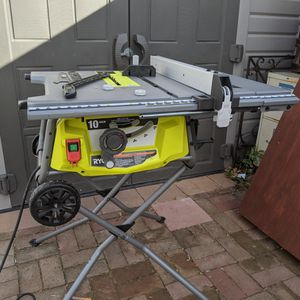 Ryobi 10-in Rolling Expandable Top Table Saw for Sale in Brea, CA