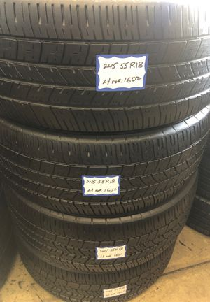 👨🏻🔧🚘SET OF 4 USED TIRES👨🏻🔧🚘 245/55/18 GOODYEAR for Sale in Lakewood, CA