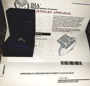 1.26 kt diamond engagement ring for Sale in Charlotte, NC