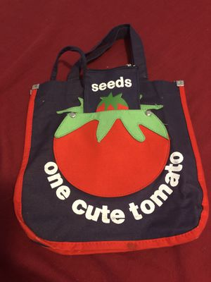 Vintage child's one cute tomato purse/tote with attached wallet for Sale in Mechanicsburg, PA