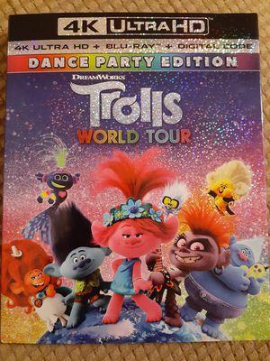 Trolls world tour 4k for Sale in Bakersfield, CA
