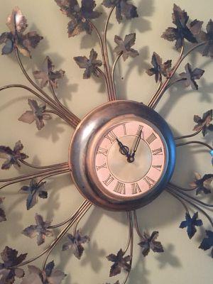 Antique bronze wall clock for Sale in Miami, FL