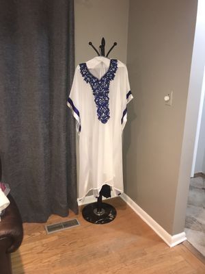 Blue and white kaftan dress for Sale in Dearborn Heights, MI