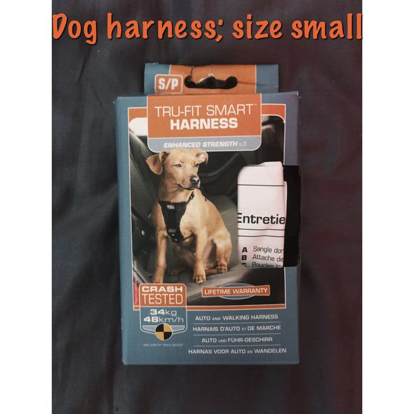 Size small dog harness; new never used.