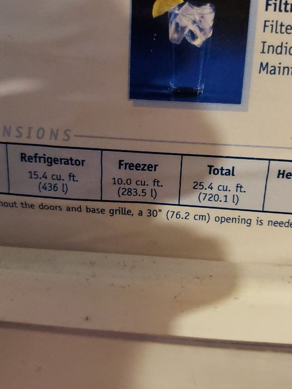 Whirlpool fridge w ice maker which has never been used