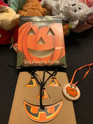 Longaberger jack-o'-lantern Tie-one for Sale in Virginia Beach, VA