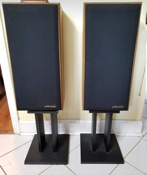 Polk Audio speakers Monitor 5 with stands for Sale in Wheeling, IL