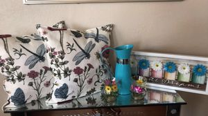 Accent Pillows, Candle holders, Flower picture frame. for Sale in Richmond, CA