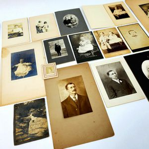Lot Of 18 Vintage Cabinet Photographs & Other Circa 1900 (Infants & Children etc.) for Sale in Trenton, NJ