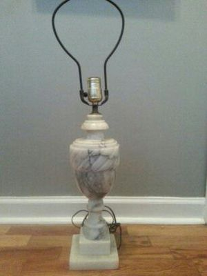 Antique white marble urn table lamp for Sale in Detroit, MI