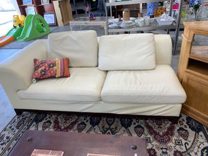 Faux Leather white couch! for Sale in Oceanside, CA