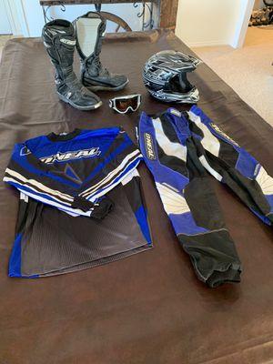 O'Neal dirt bike riding motorcycle gear boots helmet HJC for Sale in Daniel, UT