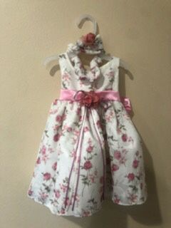New Baby Girls Jacquard Floral Easter Party Dress Size 3-6 Months for Sale in Hacienda Heights, CA