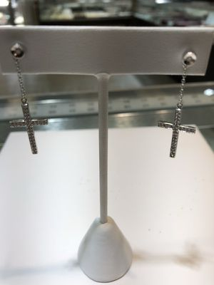 Diamond Cross Earrings for Sale in Chicago, IL