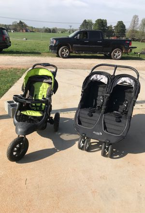 Double stroller and jogging stroller for Sale in Archdale, NC