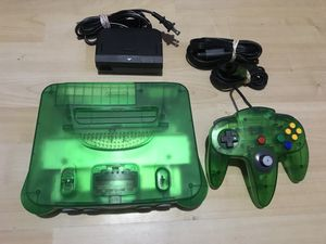 Nintendo 64 jungle green /N64 system for Sale in Anaheim, CA