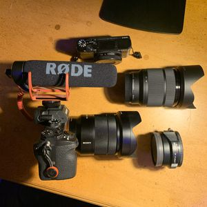 Crazy Sony Two Camera Setup for New and Experienced Photo+Videographer for Sale in Mission Viejo, CA