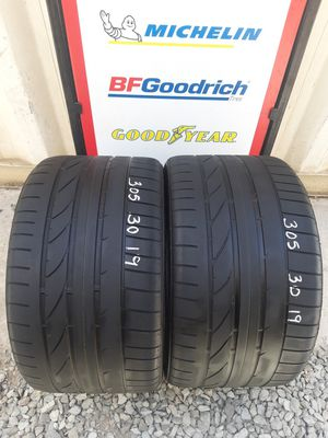 2 USED TIRES 305 30 19 BRIDGESTONE POTENZA 70% TREAD $80 DLLS FOR BOTH INSTALLED AND BALANCED for Sale in San Diego, CA