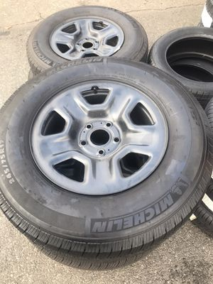 Michelin LTX All Terrain Tires and Rims Jeep Wrangler 2019 for Sale in Woodland Park, NJ