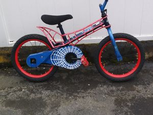 "Bicycles X 2. 16 "" bmx spiderman & 16"" cars for Sale in Portland, OR"