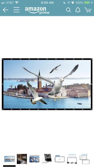 """New Projector Screen 16:9 - 84"""" - Foldable for Sale in Tacoma, WA"""