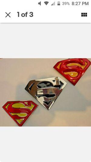 Superman belt buckle. Man of steel. Lot of 3 belt buckles for Sale in NEW PRT RCHY, FL