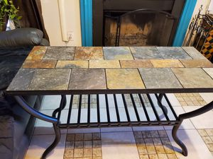 CERAMIC TILE top console table with steel base for Sale in Greensboro, NC
