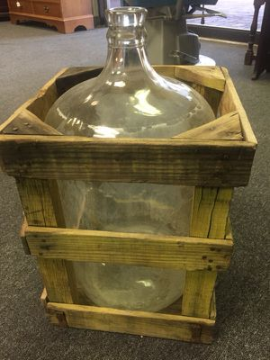 Antique Glass Water Jug & crate for Sale in Las Vegas, NV