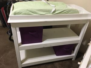 White baby changing table for Sale in Keller, TX