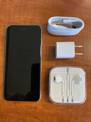 **LOWEST** iPhone 6S UNLOCKED Space Grey 16GB - All accessories Brand new - Case - Screen Protector for Sale in San Jose, CA
