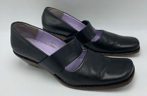 Audley London EU 39 US 8 Wedge Heel Black Leather for Sale in Novato, CA