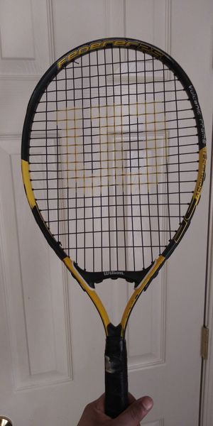 Wilson tennis racket black and yellow for Sale in Herndon, VA