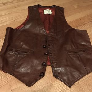Men's 46 vintage leather vest from Georgetown Leather for Sale in Silver Spring, MD