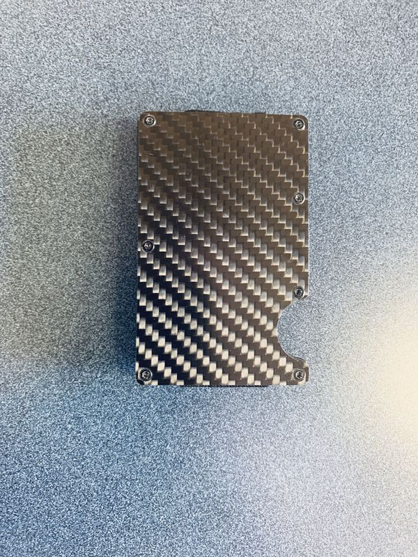 Carbon fiber money clip card holder wallet new version 2019