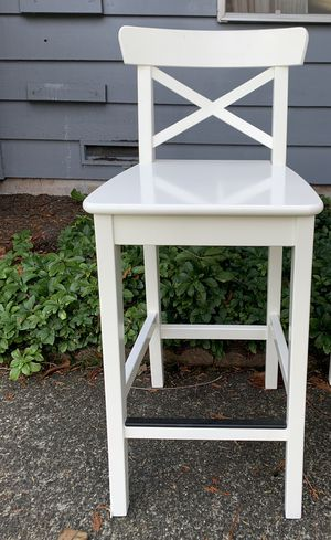 White bar stools-IKEA $30 each for Sale in Bothell, WA