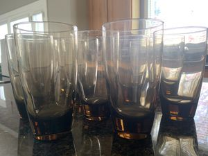 Talk Drinking Glasses - Brown for Sale in Wildwood, MO
