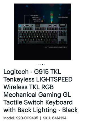 G915 TKL WIRELESS KEYBOARD for Sale in Oklahoma City, OK
