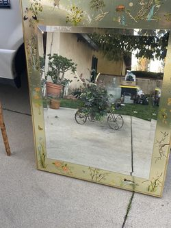 Japanese glass frame mirror for Sale in Azusa,  CA