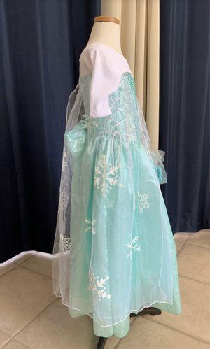 Vestido nuevo Elsa (frozen) talla 4, satin poliéster, hecho en Mexico. for Sale in Santa Ana, CA