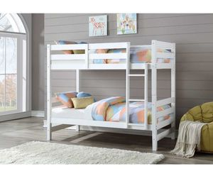 Bunk Bed (Twin/Twin) - 37785 - White/brown OISTN for Sale in Pomona, CA