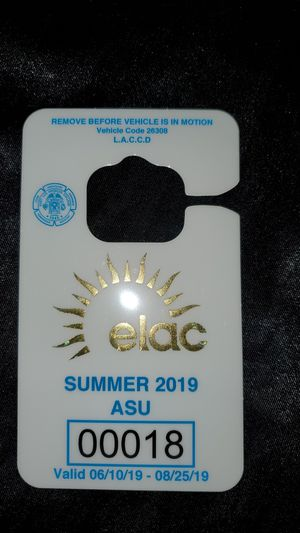 East Los Angeles college parking 2019 summer permit for Sale in Vernon, CA