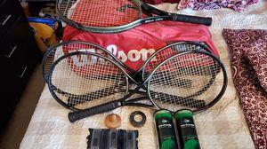 5 Wilson hammer 2.7 tennis rackets for Sale in Hesperia, CA