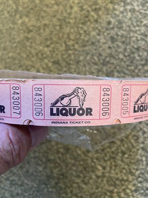 Large unopened roll of liquor tickets for Sale in Ridgefield, WA