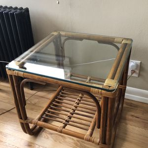 Vintage Franco Albini Style Bamboo Rattan Side Table for Sale in Seattle, WA