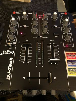 DJ-TECH X10 Mixer with Soundcard Built-in for Sale in Belleville, NJ