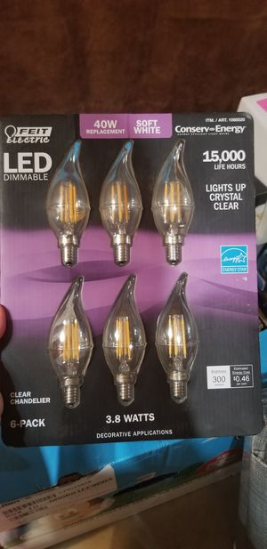 Feit Electric Led Chandelier Bulbs 40W 6 Pack Soft White, 6Count for Sale in Aurora, IL