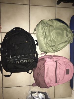 Two PINK by Victoria Secret Backpacks and One Tommy Hilfiger Bag for Sale in Miami, FL