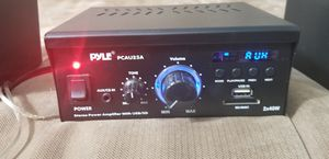 Pyle Mini 2 x 40-Watt Stereo Power Amplifier + USB/SD/AUX/LED Display   PCAU25A for Sale in Tappan, NY